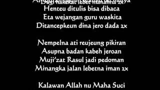 Syi'ir Tanpo Waton versi bahasa Sunda