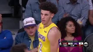 Lonzo Ball Blocks Blake Griffin in NBA Debut!!!!!!! 10.20.2017