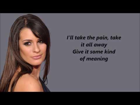 Lea Michele - Run to You with lyrics