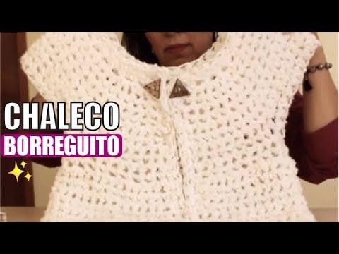 Chaleco Borreguito Tejido con dedos Tejiendo con Laura Cepeda