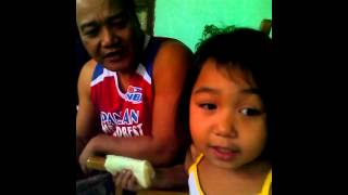 AYhana and her grandpa, singing