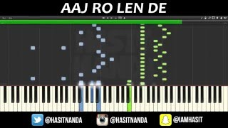 Aaj Ro Len De - PIANO TUTORIAL | 1920 LONDON | Sharman Joshi, Meera Chopra, Shaarib and Toshi