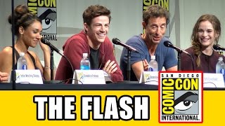 The Flash Comic Con Panel - Season 2, Grant Gustin, Candice Patton, Danielle Panabaker