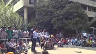 a protest against the pu authority| panjab university | chandigarh | march 2012 |