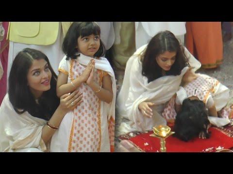 Aishwarya Rai Bachchan Teaches Aardhya Bachchan