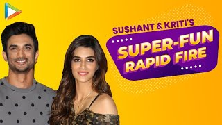 Sushant Singh Rajput And Kriti Sanon's TERRIFIC Rapid Fire On Baahubali 3, Deepika Padukone,