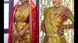 Gold Silk Kanchipuram Bridal Pattu Sarees Latest Collection - Part 2.