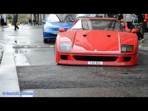 Ferrari F40 & a Pulse GT1 vs Speed Bump FULL HD 1080P