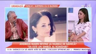 Andreea Marin revine la numele lui Ştefan Bănică Jr.! Motivul pentru care a ales să facă asta