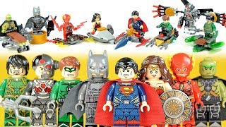 Justice League Batman Superman Wonder Woman Flash Aquaman Green Lantern Unofficial LEGO Mini Builds