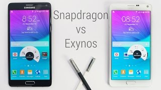 Galaxy Note 4 - Snapdragon 805 vs Exynos 5433 Comparison