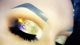 Jaclyn Hill Palette - Holographic Gold Cut Crease - XMAS Makeup Tutorial