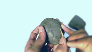 sea turtle clay model