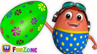 Learn GREEN Colour with Johny Johny Yes Papa | Surprise Eggs Colours Ball Pit Show | ChuChuTV 3D Fun