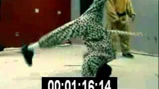 Crazy Dance - Break Dancing In Funny Costumes - Best Shot Footage - Stock Footage