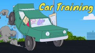 Pyaar Mohabbat Happy Lucky - Ep.32 | Car Training | Hindi Animated Cartoon Show | ZeeQ