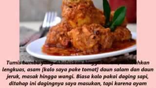 Kumpulan resep masakan : rendang ayam,sate ayam sambal oncom,ikan lele penyet sambal,sop buntut .