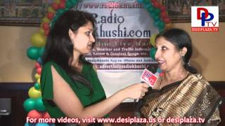 Srilatha speaking to Desiplaza TV at RadioKhushi  Telugu Mahila Sambaralu - 2012