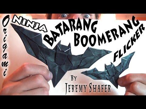 how to make an origami boomerang robs world vidoemo