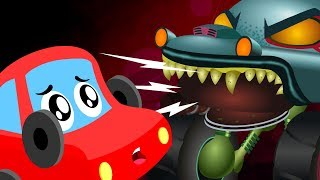 Scary Car Attack | Little Red Car | Halloween Songs For Kids | Cartoon Videos By Kids Channel