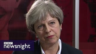 Theresa May defends Grenfell Tower response - BBC Newsnight