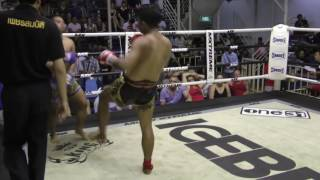 Kongtoranee (Sinbi Muay Thai- Red corner) fights at Bangla Stadium- 16.4.2017