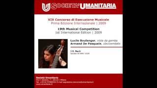 Johann Sebastian Bach Sonata III BWV 1029