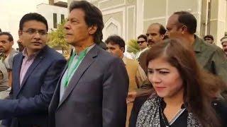 Imran Khan with Nadia Khattak at Supreme Court Islamabad