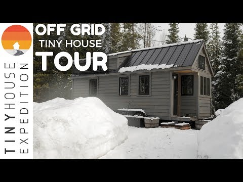 Off Grid Tiny House TOUR Fy Nyth Nestled in Wyoming Mountains