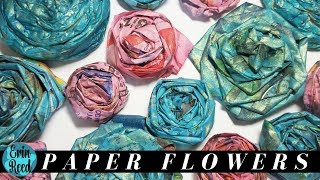 2 Ways to Make Newspaper or Tissue Flowers