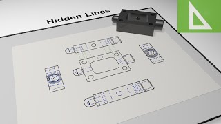 Hidden Detail & Lines in Engineering Drawing & CAD. Animation