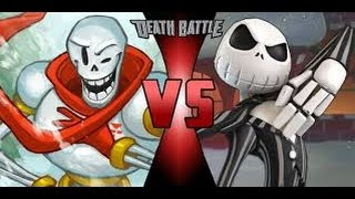 PAPYRUS vs JACK SKELLINGTON! (Undertale vs Disney) Cartoon Fight Club Episode 142 Reaction
