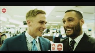 Bernie Vince and Josh Gibson at MYER fashion launch