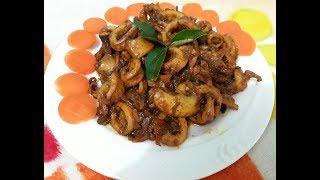 Koonthal ularthiyathu--Squid Roast