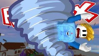 AHHHH TORNADO!! - ROBLOX NATURAL DISASTER!