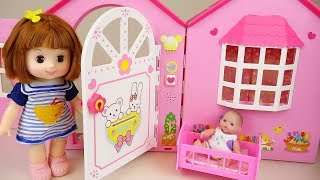 Baby doll and Pororo Toilet toy play