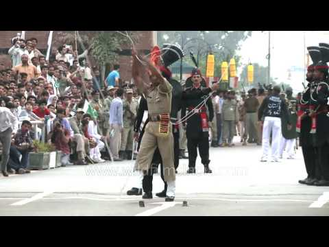 Beating Retreat couldn't be better than this! Wagah Border