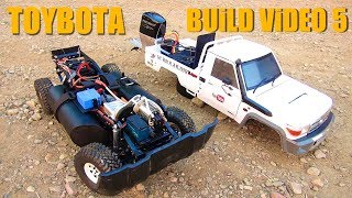 RC ADVENTURES - TOYBOTA PROJECT - PT 5 - BBC TOP GEAR TRiBUTE BUiLD - TOYOTA TRUCK-BOAT