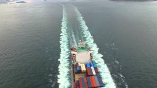Container ship 4K