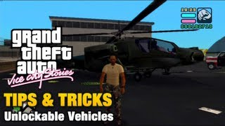 GTA Vice City Stories - Tips & Tricks - Unlockable Vehicles