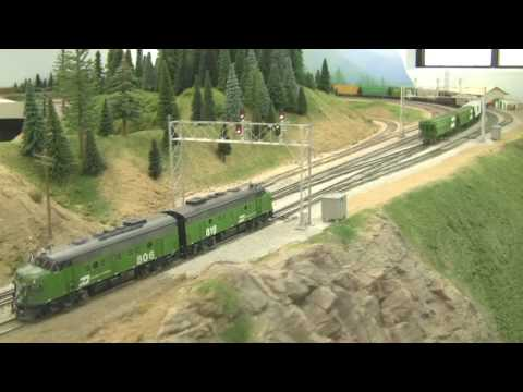 Awesome HO Scale BN Model Train Layout in HD 2 21 2009