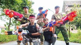 LTT Nerf War : SEAL X Warriors Nerf Guns Fight Surprise Manor Knock Down Criminal Group