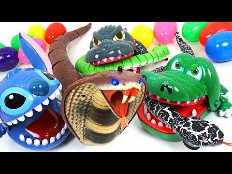 King Cobra and Snake appeared Transform into super Stitch Crocodile Dinosaur DuDuPopTOY