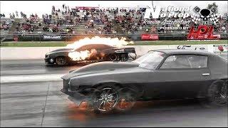 Kye Kelley AfterShock vs Monza twin turbo Camaro No Prep Kings 2 Topeka Kansas