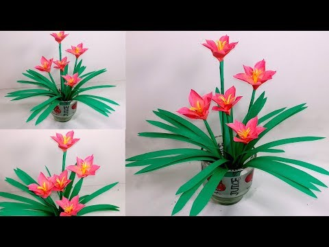 Xxx Mp4 How To Make Very Beautiful Creative Rain Lily Paper Flowers Paper Flower Jarine S Crafty Creation 3gp Sex