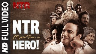 NTR, More than a hero! Video Song | NTR Biopic | Kaala Bhairava, Prudhvi Chandra