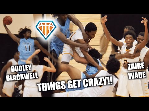GAME GETS SO HEATED IT WAS CANCELLED 😱 Zaire Wade Breaks Up Fight D Wade JRich & UD Watch
