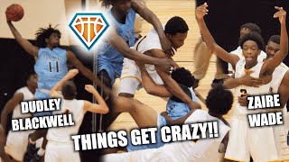 GAME GETS SO HEATED IT WAS CANCELLED?! 😱 Zaire Wade Breaks Up Fight | D-Wade, JRich & UD Watch