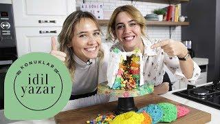 Gökkuşağı Pasta Tarifi | Pasta Yapımı | Bengi Kurtcebe | İdil Yazar ile Yemek Tarifleri