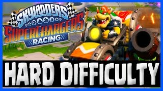 ALL LAND TRACKS ON HARD & SHORTCUTS - Skylanders Superchargers Racing Gameplay Part 4